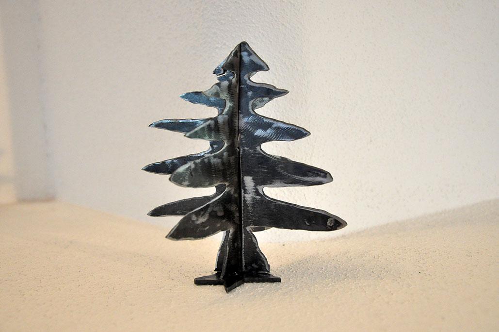 metall steck tannenbaum 13cm 3d feinrost. Black Bedroom Furniture Sets. Home Design Ideas