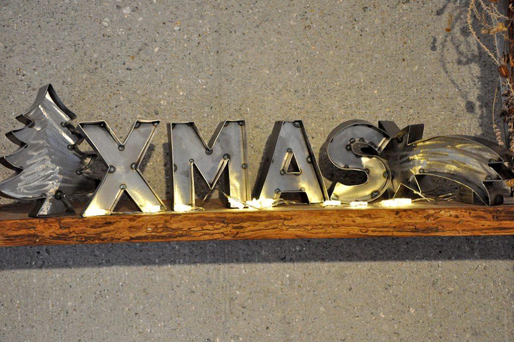 Weihnachtsdeko Stahl Metall Buchstaben XMAS