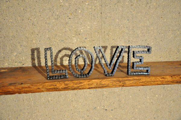 LOVE Kette Buchstaben Feinrost