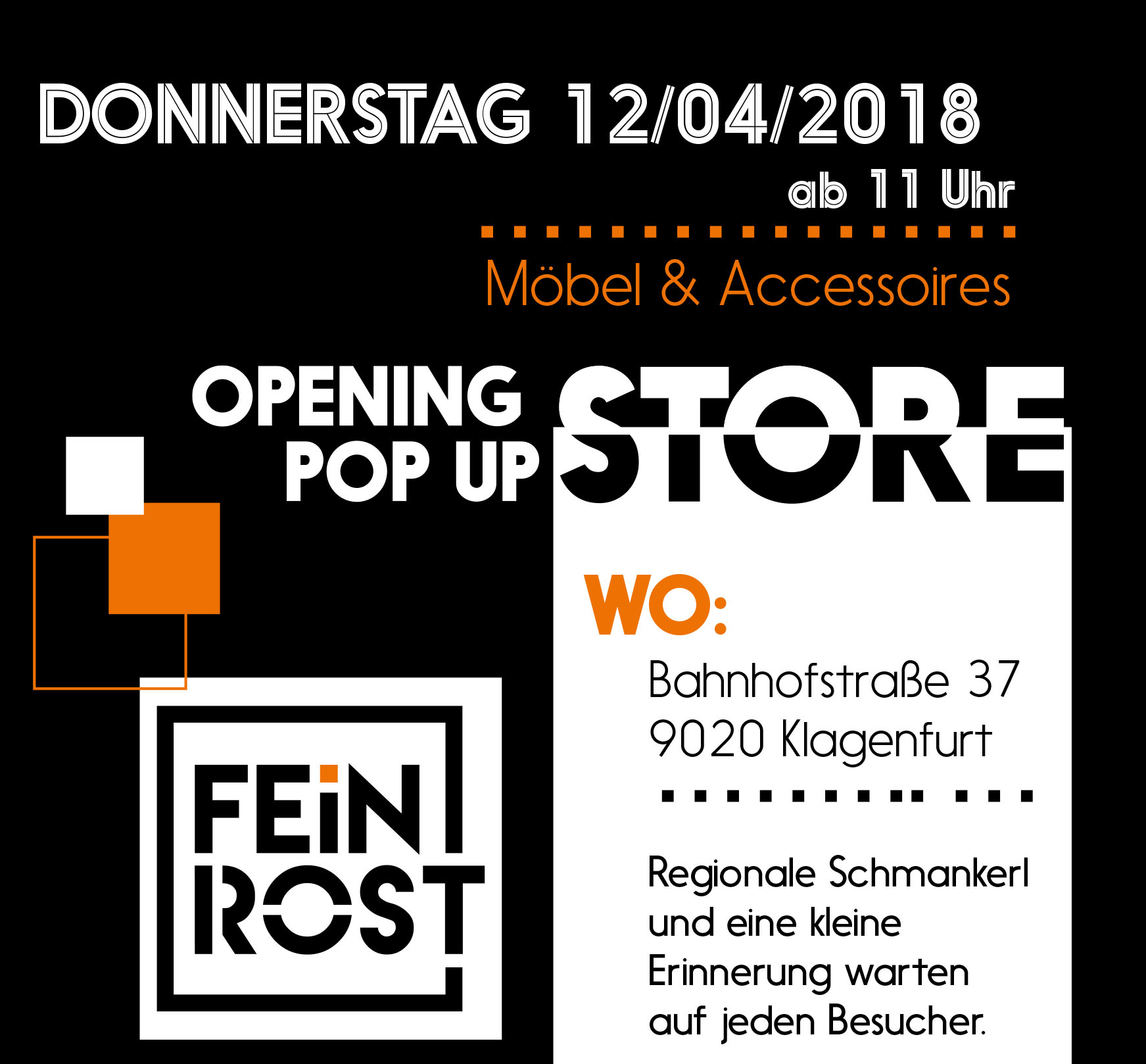Feinrost Pop Up Store Klagenfurt