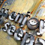 enjoy seepark Metallbuchstaben Logo