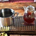 Stövchen 4er mit Tee und Topf