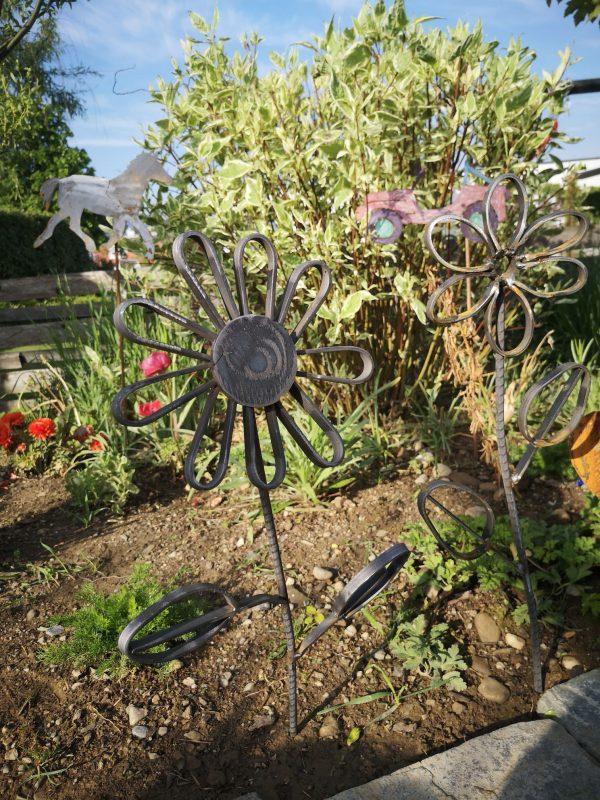 Gartenstecker Blume Feinrost