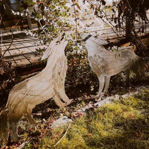 Gartenstecker Wolf